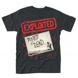 The Exploited Punks Not Dead black shirt