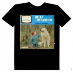 Belle et Sebastien tv series black t-shirt