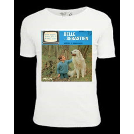 Belle et Sebastien tv series white t-shirt