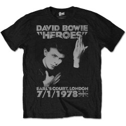David Bowie Heroes Earl's Court t-shirt