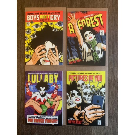 Butcher Billy set of four Cure cards