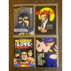 Set of four Butcher Billy Batman related cards