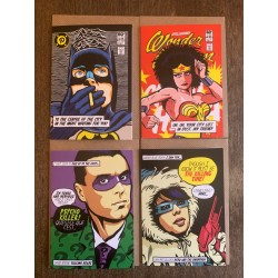 sSet of four post punk Butcher Billy cards